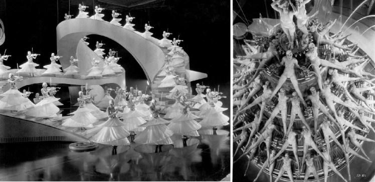 """Derecha: fotograma de """"Vampiresas 1933"""". Derecha: fotograma de """"Desfile de candilejas""""."""
