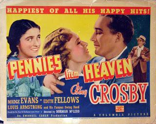 """Cartel publicitario de la película """"Pennies from Heaven"""" (1936)"""