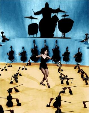 """Ann Miller en """"Small Town Girl"""""""