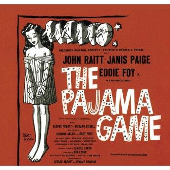 """Carátula del álbum con las canciones de la versión de Broadway de 1954 """"The Pajama Game"""""""