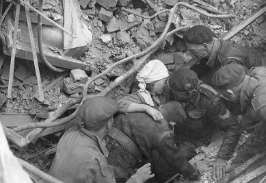 Lambeth en 1942 tras un bombardeo alemán.