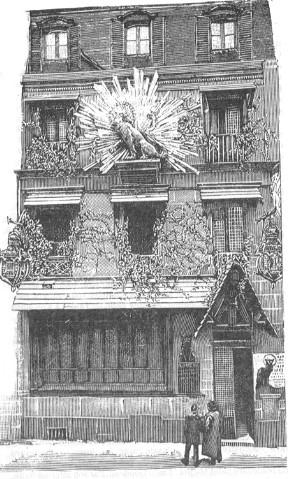 Fachada de Le Chat Noir de la calle Victor Massé.