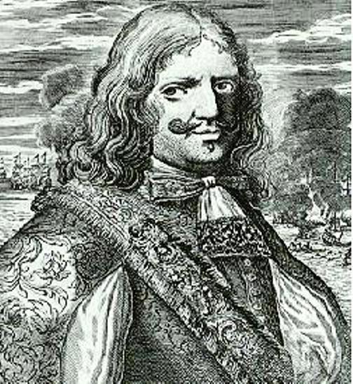 "Henry Morgan en un grabado del libro de Alexandre Olivier Exquemelin ""De Americaensche Zee-Roovers"" (1678)."