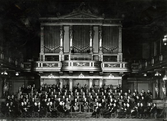 La Orquesta Filarmónica de Viena en 1942.