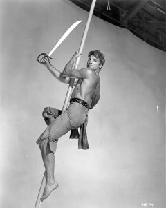 """Burt Lancaster durante el rodaje de """"El temible burlón"""""""