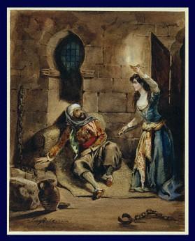 """Episodio de """"El corsario"""" por Eugène Delacroix (ca. 1831). El pintor francés utilizó la historia de Lord Byron como inspiración en varias obras."""