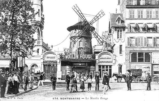 El Moulin Rouge en 1900.