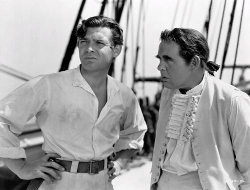 """Clark Gable y Charles Laughton en """"La tragedia de la Bounty"""" (1935)"""