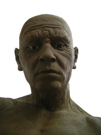 Reconstrucción de la cabeza de un hombre mesolítico.