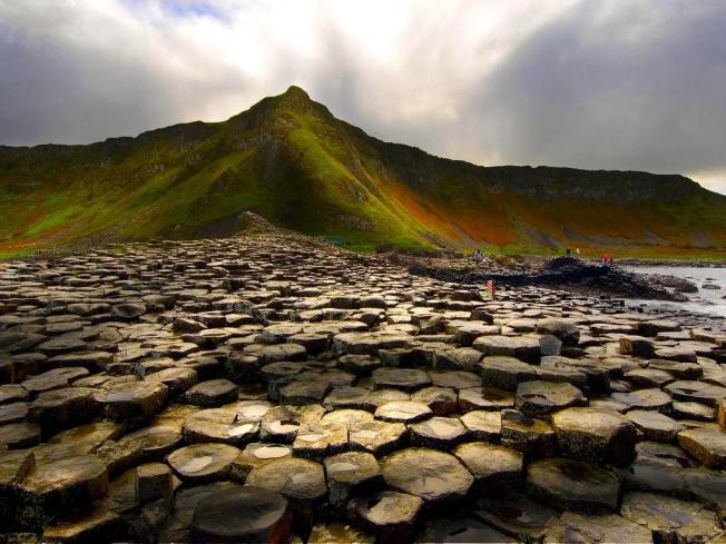 Calzada de los Gigantes (costa nororiental de Irlanda).