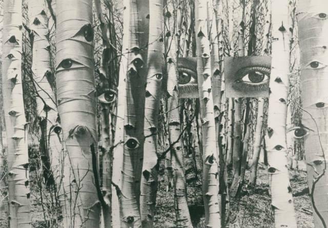 """""""En busca del tiempo pasado"""" (1959). Fotomontaje de Herbert Bayer."""