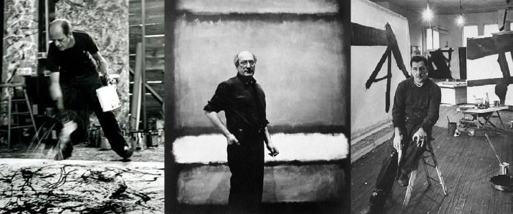 Jackson Pollock, Mark Rothko y Franz Kline.