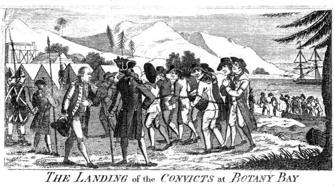 Cuerda de presos deportados a Botany Bay (Australia).