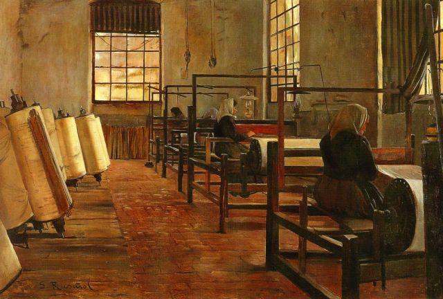 """""""La fábrica"""" (1889), óleo de Santiago Rusiñol"""