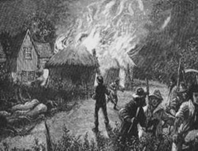 Grabado de 1830 sobre los actos luditas de Hampshire.