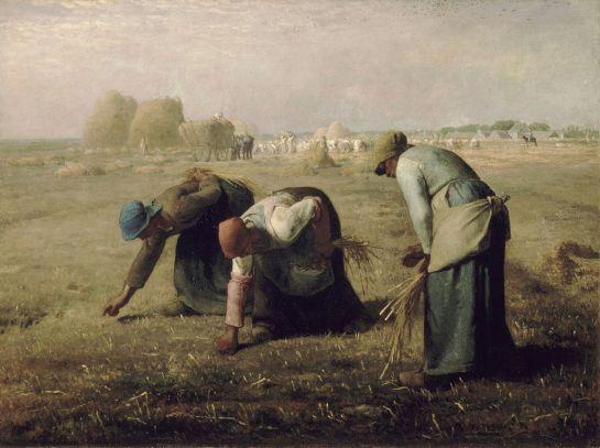 """Las espigadoras"" (1857), óleo de Jean-François Millet."