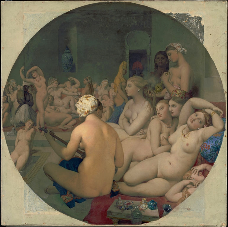 """""""El baño turco"""" (1862), óleo de Dominique Ingres."""