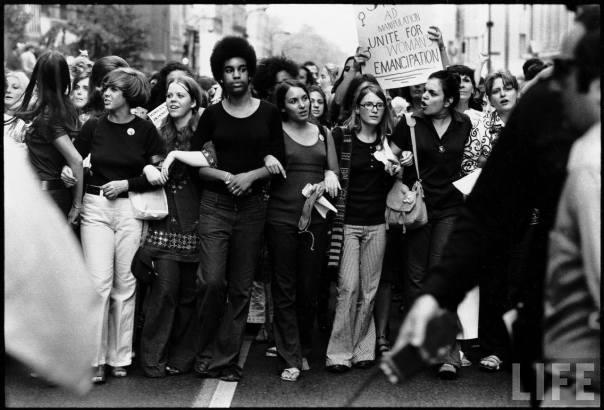 Manifestación feminista en Nueva York (1970).