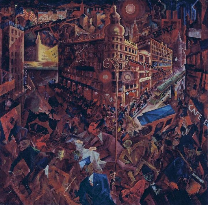 """Metrópolis"" (1916-1917), óleo de George Grosz."