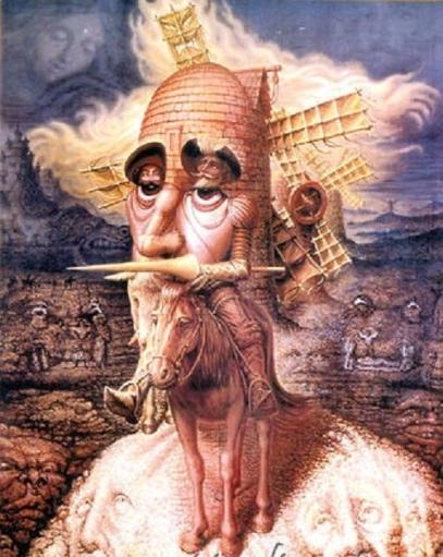 """""""Las visiones del Quijote"""" (1989). Octavio Ocampo."""