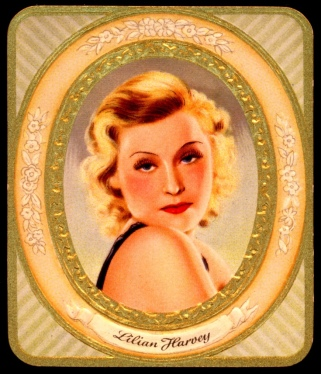 Portada de una de las cajetillas de cigarrillos Sultan con Lilian Harvey (sobre 1935).