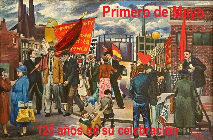 """Demonstration in Battersea"" (1939). Clive Branson"