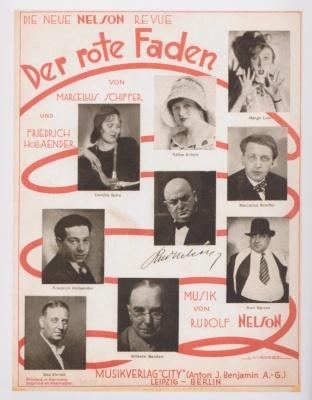 """Cartel anunciador de la revista """"Der Rote Faden""""."""