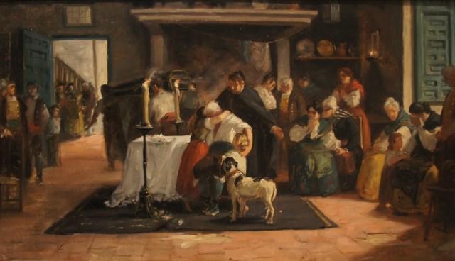"""""""El velatorio"""" (s.f.), óleo de Ulpiano Checa (1860-1911)."""