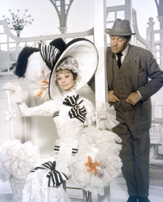 Audrey Hepburn y Rex Harrison.