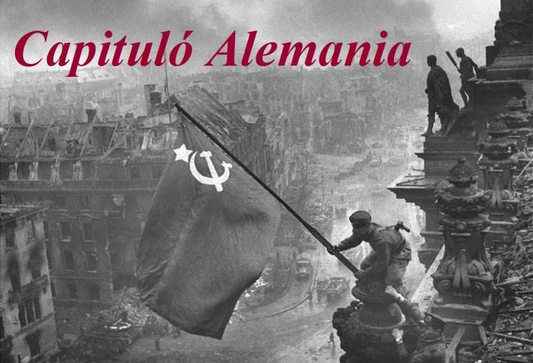 Bandera soviética sobre el Reichstag. Original.