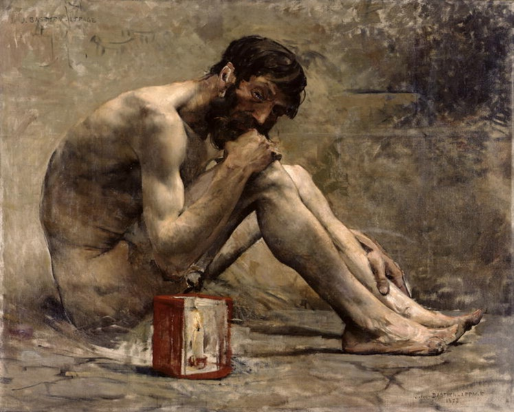 """Diógenes"" (1873), óleo de Jules Bastien-Lepage."