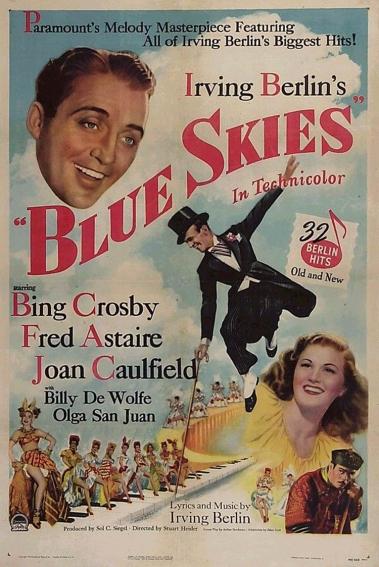 Cartel publictario de Blue Skies (1946)