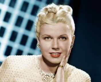 "Doris Day en ""Romance en alta mar""."