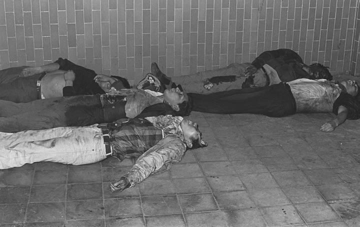 """Estudiantes asesinados en la masacre de Tlatelolco. Hemeroteca de """"El Universal""""."""