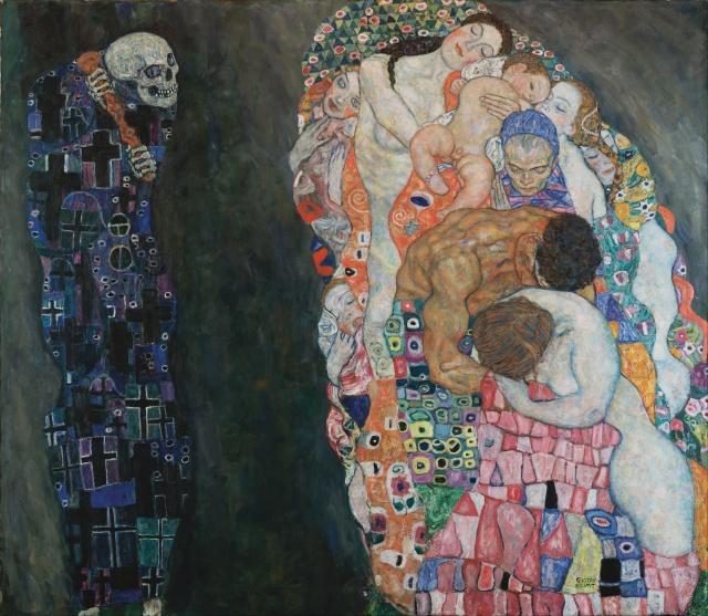 """""""Muerte y vida"""" (1916). Gustav Klimt."""