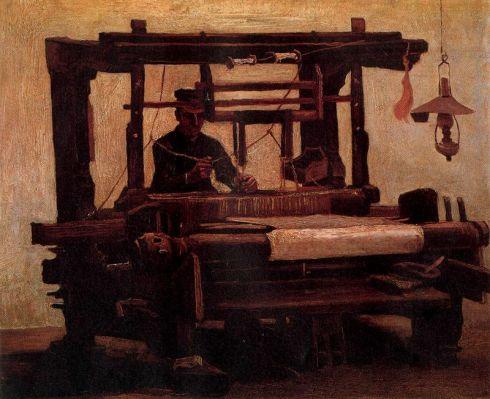"""Tejedor en un telar"" (1884), óleo de Vincent Van Gogh."