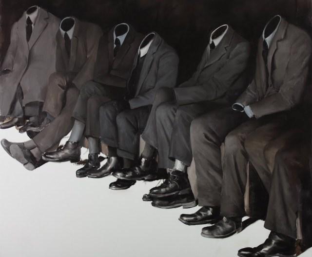 """""""Wise Guys"""" (2011), óleo de Mircea Suciu."""