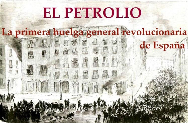 """Incendio de varias casas colindantes con el ayuntamiento para obligar a las autoridades a rendirse. Grabado de """"La Ilustración Española y Americana"""" (24 de julio de 1873)."""