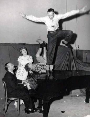 Jose Iturbi, Lucille Ball, Harpo Marx and Fred Astaire
