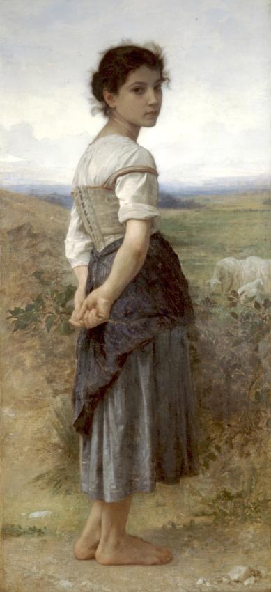 """""""La jeune bergère"""" (1885), óleo de William-Adolphe Bouguereau."""