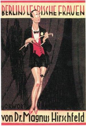 """Portada del libro de Magnus Hirschfeld """"Berlins lesbiche Frauen"""" (1928, Lesbianas de Berlín)."""
