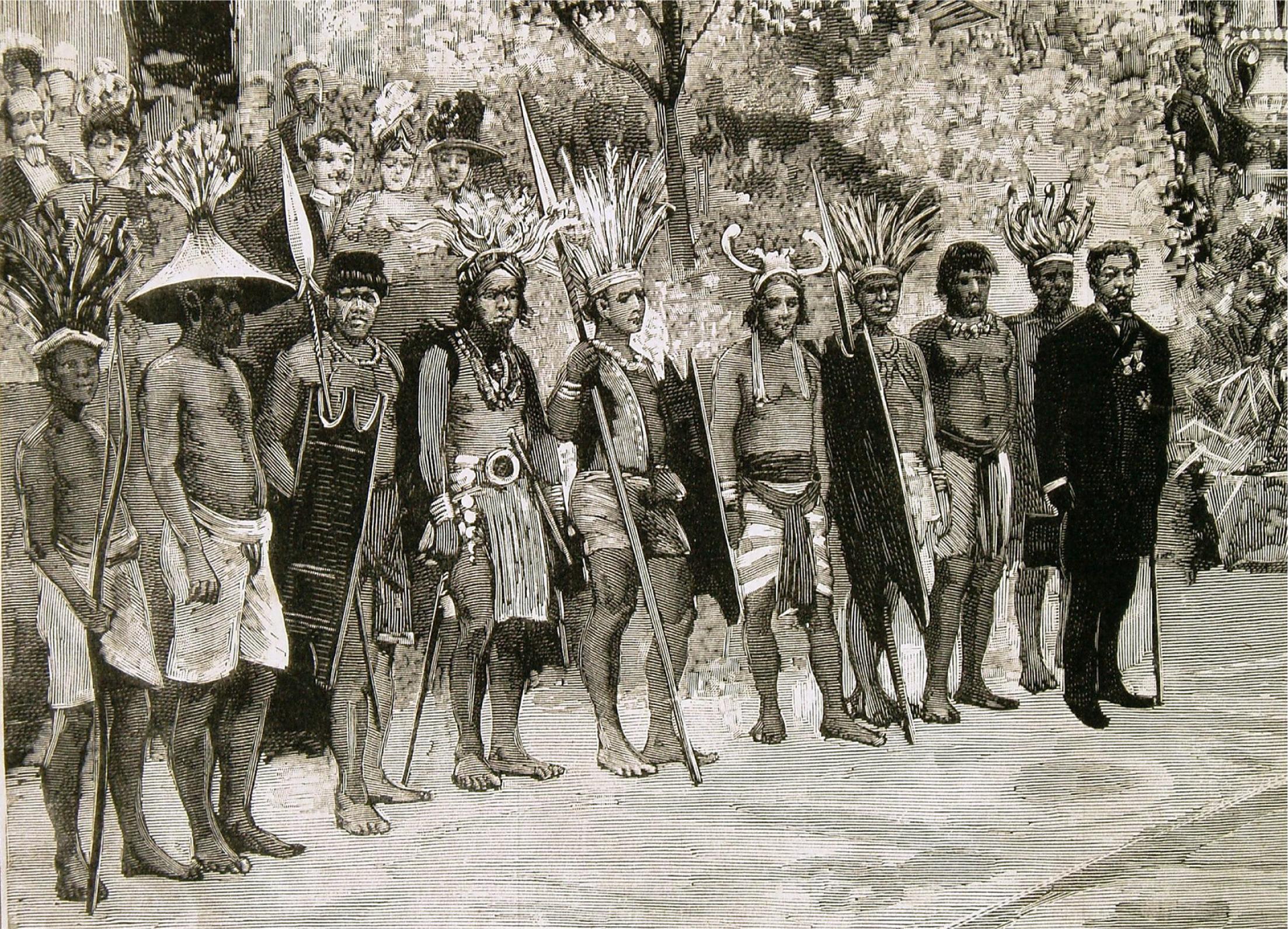 Opening of the Philippine Exhibition, Madrid, 1887 (detail). La Ilustración Española y Americana, July 8, 1887.
