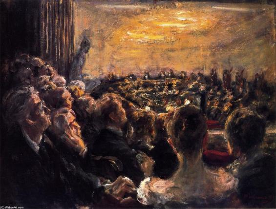 """Concert in the Opera House Max"" (1921), oleo de Max Liebermann."