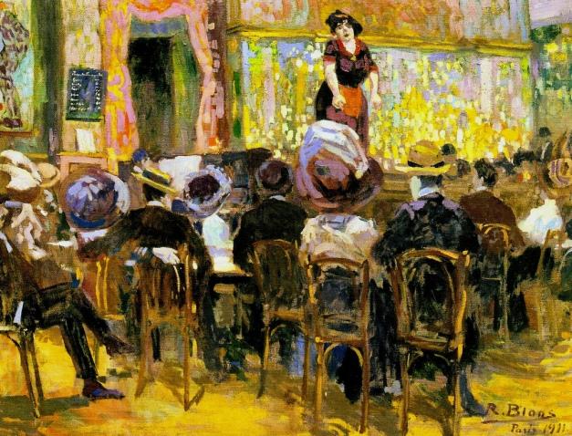 """""""Café cantante en París"""" (1911). Richard Bloos"""