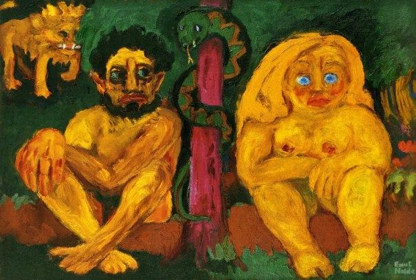 """""""El paraíso perdido"""" (1921), óleo de Emil Nolde."""