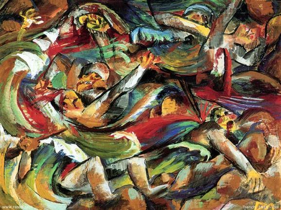 """""""Trinchera"""" (1918). Otto Dix."""