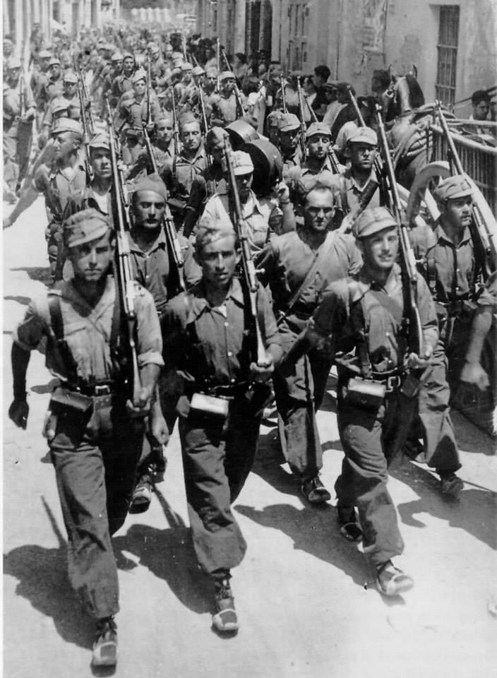 Desfile de despedida de los brigadistas en Barcelona (26 de octubre de 1938).