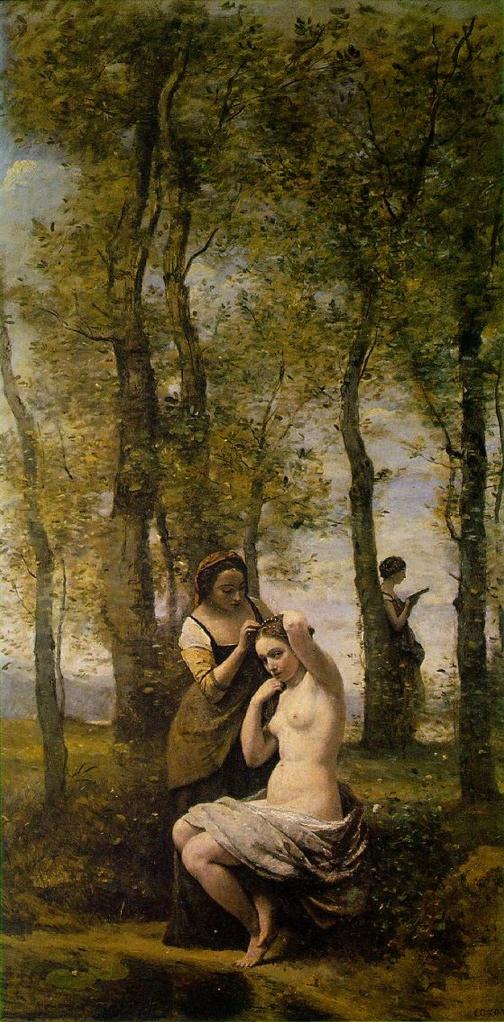 """La Toilette"" (1859), óleo de Camille Corot."