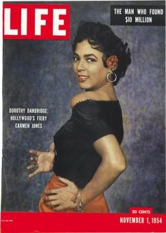 """Portada de """"Life"""" con Dorothy Dandridge como Carmen Jones."""