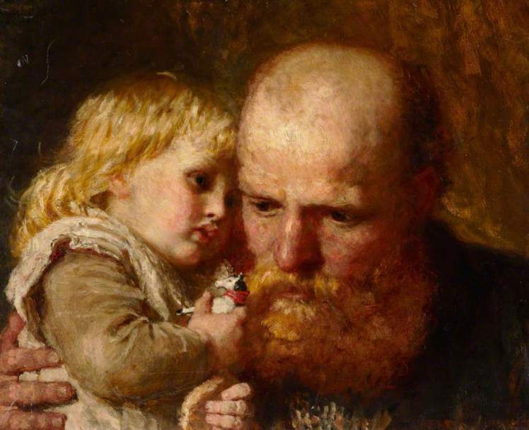 """Padre e hija"" (1880). Karl Wilhelm Friedrich."